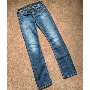 Silver | Tuesday Mid Rise Straight Jeans W 28/L 34